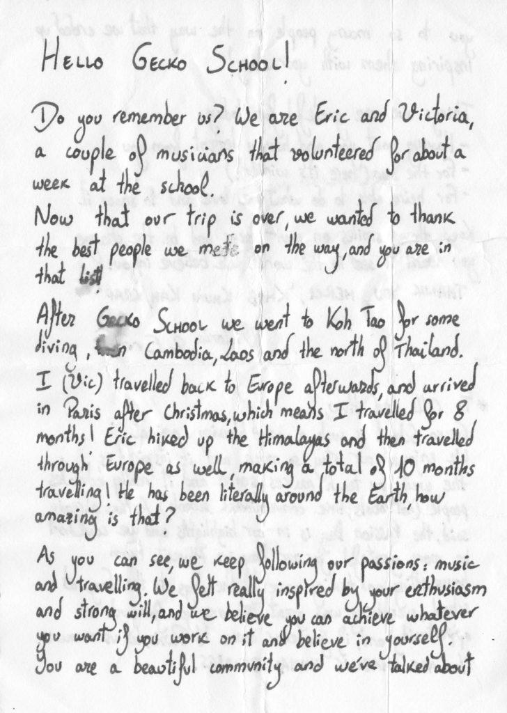 Eric letter
